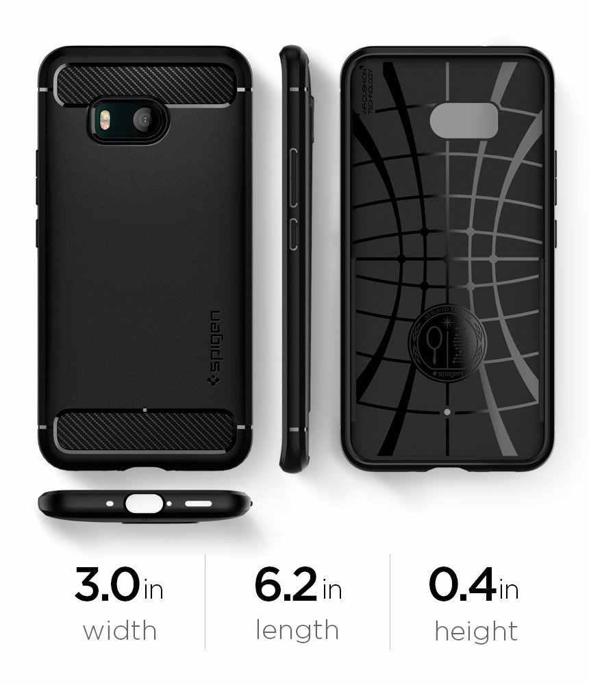 check out ae81e 89161 100% Original SPIGEN Rugged Armor Case for HTC U11 / HTC U 11