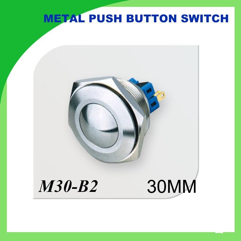 30mm metall taster wasserdichte selbstsichernde Edelstahl 2NO2NC ...