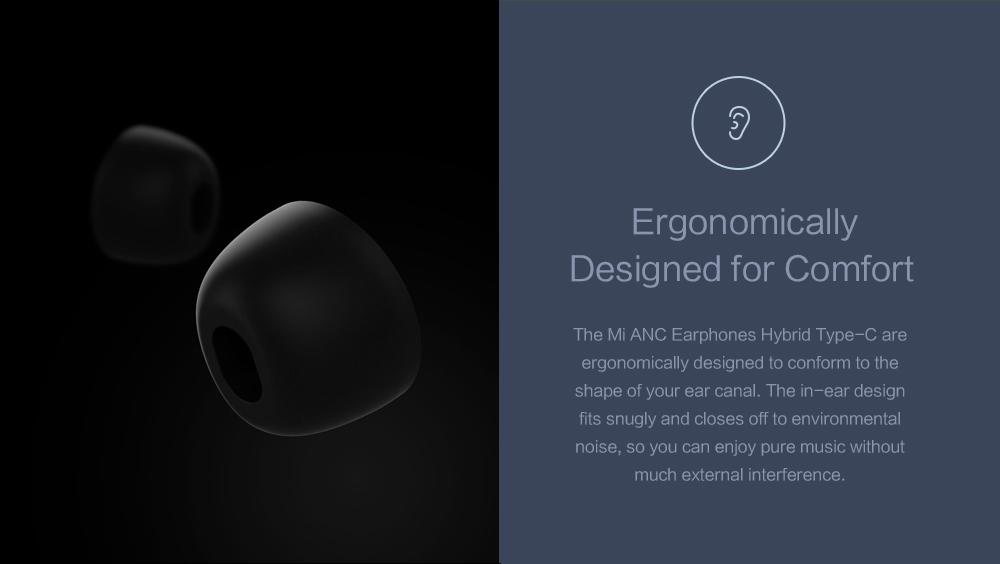 Original Xiaomi ANC Earphones Hybrid Type-C Mic Line Control Active Noise Cancelling USB-C for Xiaomi Mi6 MIX Note2 Mi5 5s Plus (14)
