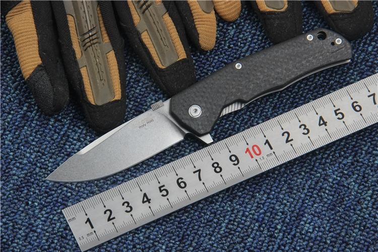 ФОТО Folding knife M390 blade Titanium Carbon Fiber handle Survival Pocket Knives Camping Utility Tools Portable knife high quality