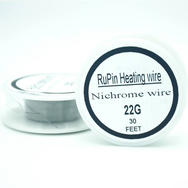 RuPin Heating Wrie Nichrome wire 22 Gauge 30 FT 0.6mm Resistance ...