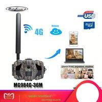 Bolyguard di caccia della macchina fotografica 4G TrailCamera SMS visione notturna GPRS MMS Nero IR 36MP 1080 P HD Photo Trappole termico imager Wildcamera