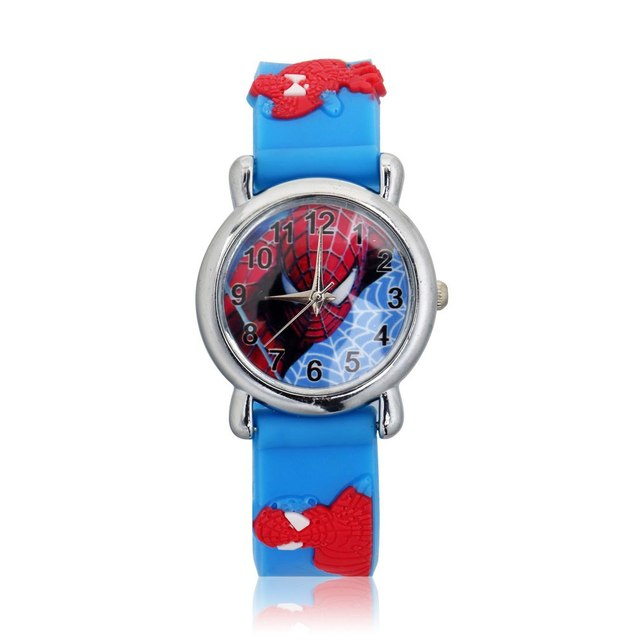 3D Rubber Strap Children Watch Kids Cute Quartz Wristwatch Boys Girls Students C