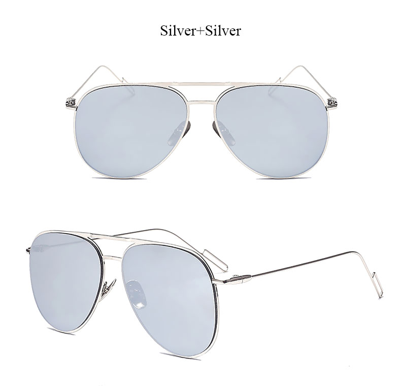 bbd825efd30c Flat lens famous italy Brand Pilot Mirror Designer Sunglasses Women or Men  Sun glasses Lady Newest Fashion 2017 Good Quality -in Sunglasses from  Apparel ...