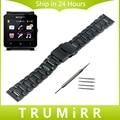 24mm de acero inoxidable correa de reloj pulsera para el sony smartwatch 2 SW2 Corchete Hebilla Pulsera con Bloqueo Removedor Del Acoplamiento y Barra de Resorte