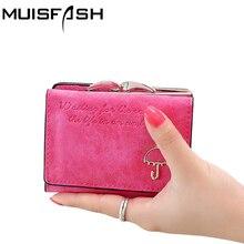 2017 Fashion Women Wallet Letter Pattern Nubuck Lovely Umbrella Short Wallet Card Holder Women Purse Coin Purse Bank Card Bags
