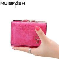 2016 Fashion Women Wallet Letter Pattern Nubuck Lovely Umbrella Short Wallet Card Holder Women Purse Coin