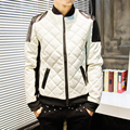 Stand collar winter new men's leather jacket + sell like hot cakes style of locomotive thin leather coat free shipping