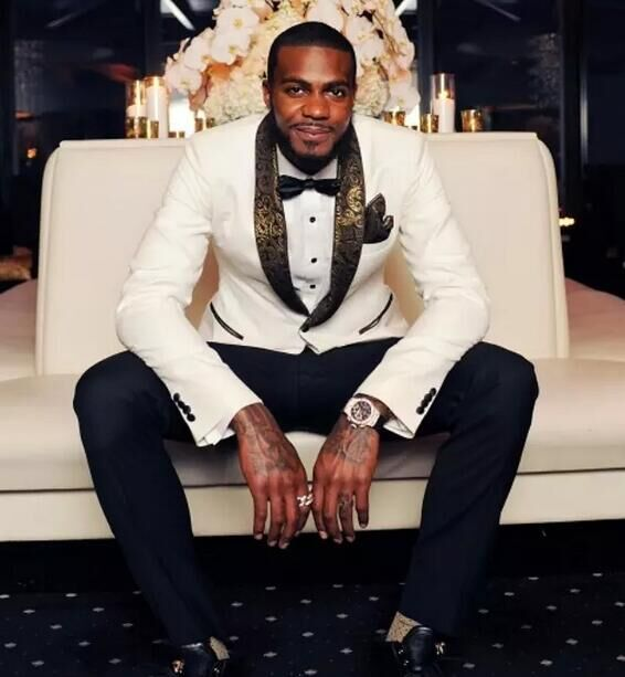 Online Shop 2017 Latest Coat Pant Designs Black Gold Jacket Prom Men ...