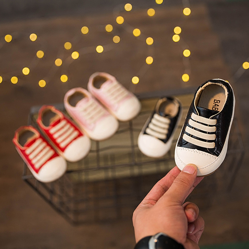 Autumn and Winter 2018 0-1-3 Years Old Children Baby Shoes Soft Non Slip Bottom Unisex Toddler Shoes Solid Color
