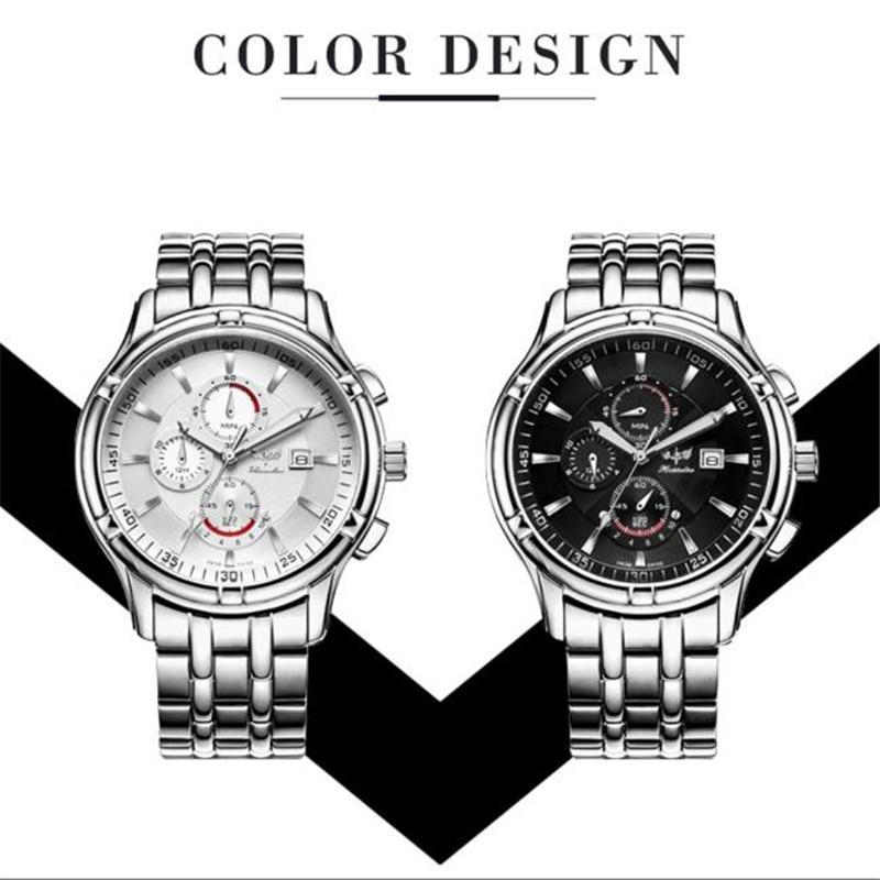 Hot 1PC Men's Fashion Watch Stainless Steel Band Analog Quartz Watch Wrist Watch Z530 5Up men s military style fabric band analog quartz wrist watch black 1 x 377