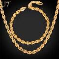 U7 banhado a ouro elo da cadeia conjunto de jóias mulheres do partido na moda moda homens pulseira colar conjunto de jóias por atacado s608