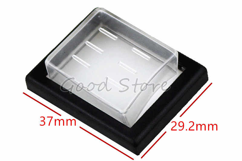 1Pcs 37X29.2mm Mounting Hole Rectangle Clear Silicone Waterproof Protect Cover Rectangle Cap For KCD Rocker Switches