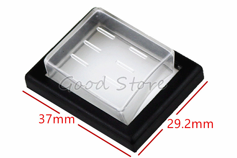 10 X Impermeable Transparente rectángulo Rocker Switch Cover