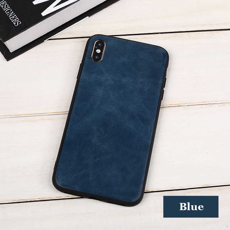 Jisoncase Telefon Fall für iPhone XS X 5,8 zoll Vintage Leder Schutzhülle für iPhone X Plain Stilvolle Einbau Fall 2018 neue