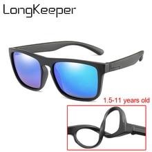 Boys Polarized Mirror Sunglasses Kids Girls Silicone Glasses