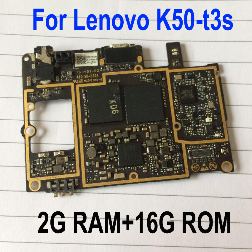 "Original mainboard 2G RAM+16G ROM Motherboard for Lenovo K3 Note K50-t3s MTK6752 Octa Core 4G FDD LTE 5.5"" FHD"