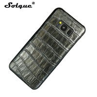 Solque Genuine Leather Case For Samsung Galaxy S8 S 8 Cell Phone Slim Real Cow Skin