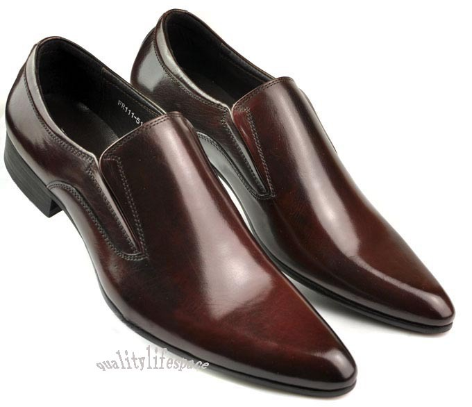 New Real Leather Business Mens Dress Shoes Formal Shoes Slip On