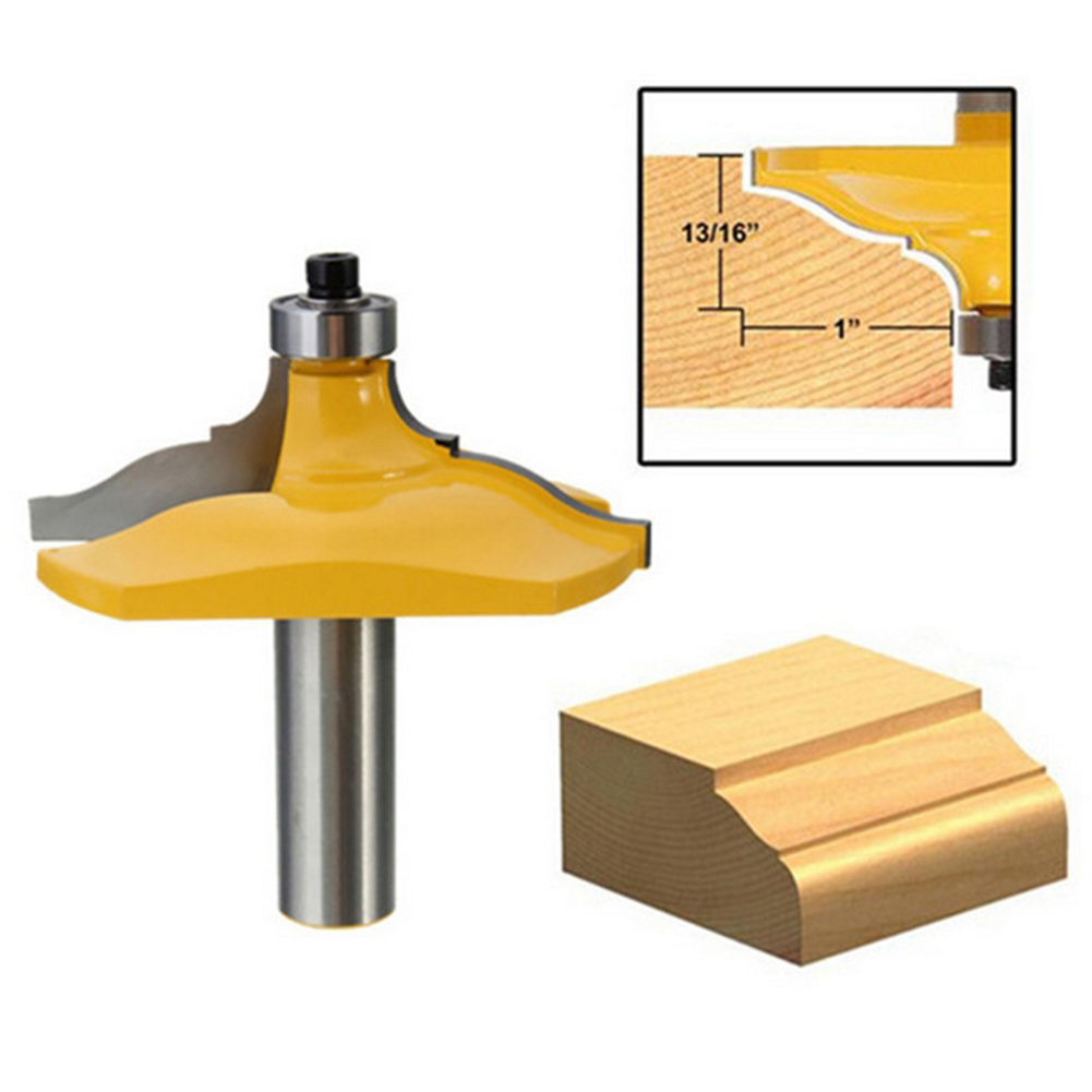 1/2'' Shank Double Ogee Edging Molding Router Bit Medium Milling Cutter Solid Hardened Steel Woodworking Tool mayitr woodworking cutter bit 1 2 shank engraving molding router bit shaker for wood milling cutter