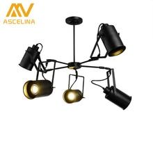 ASCELINA LED Pendant light American Retro Industrial Creative Adjustable Spotlight Multiple Lamp