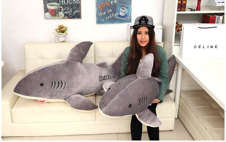 stuffed animal 120cm grey shark plush toy doll throw pillow w3066-in Stuffed  & Plush Animals from Toys & Hobbies on Aliexpress.com | Alibaba Group