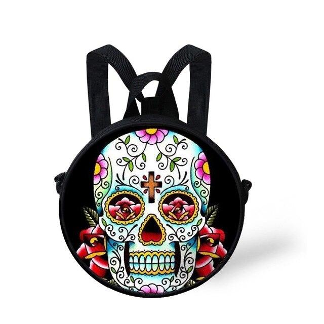 FORUDESIGNS Tattoo Pattern Small Crossbody Bag Vintage Skull Coin Purse Women Handbags Woman Messenger Shoulder Bag Canvas Bolsa