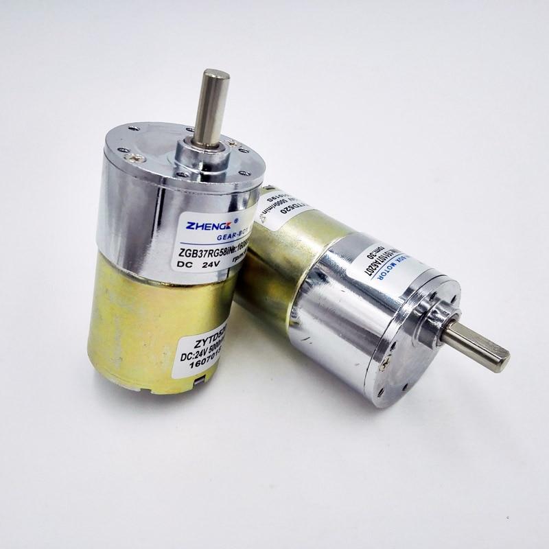 Zhengke zgb37rg 24v dc gear motor motor 37mm for Gear motor 500 rpm