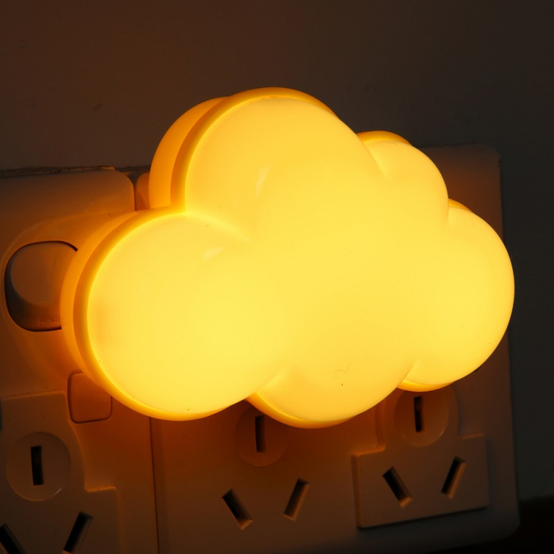 LED Sensor Night Light With Plug Cloud Or Clover Baby Bed Lamp Nursery Hallway Decoration Lamp Luminary artificial clouds for decoration