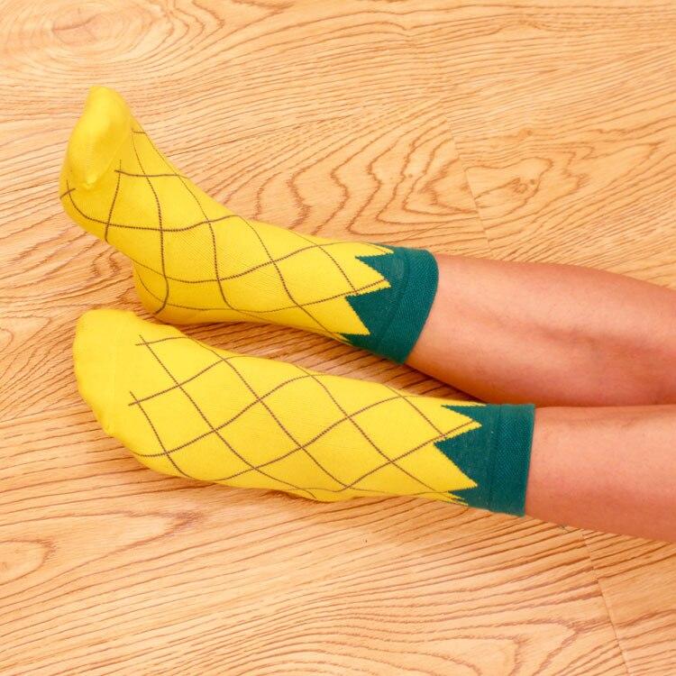Fruit yoga socks women Knee-High cotton watermelon Pineapple socks Autumn winter Indoor Dancing Skiing socks Christmas gift