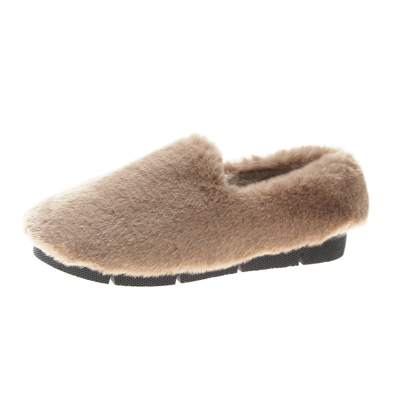 Image 5 - SWYIVY Fur Loafers Ladies Winter Warm Casual Shoe Slip Ons 2019 Ballerinas Shoes For Women Flat Shoes Loafer Women Shoe Flat-in Women's Flats from Shoes