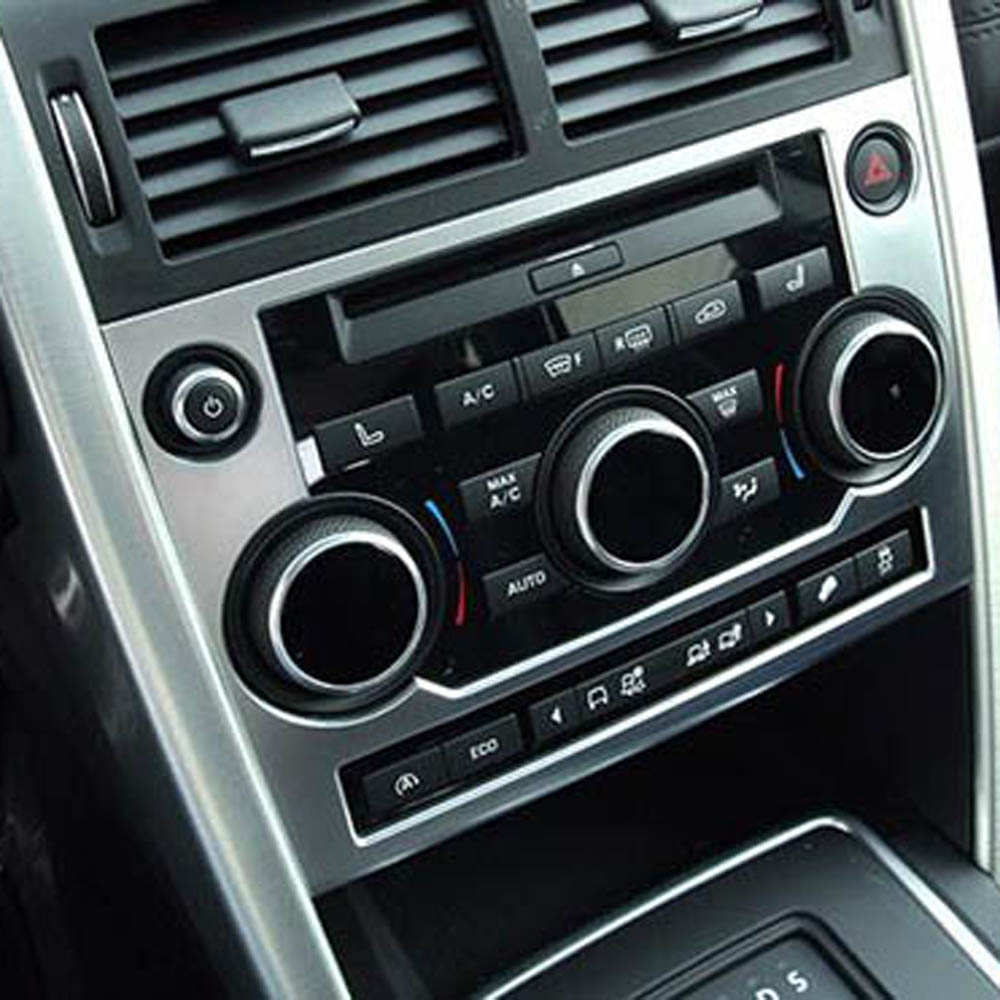 console dashboard Emergency Air Conditioning Button knob model Cover Sticker for Range Land Rover Discovery Sport Accessories