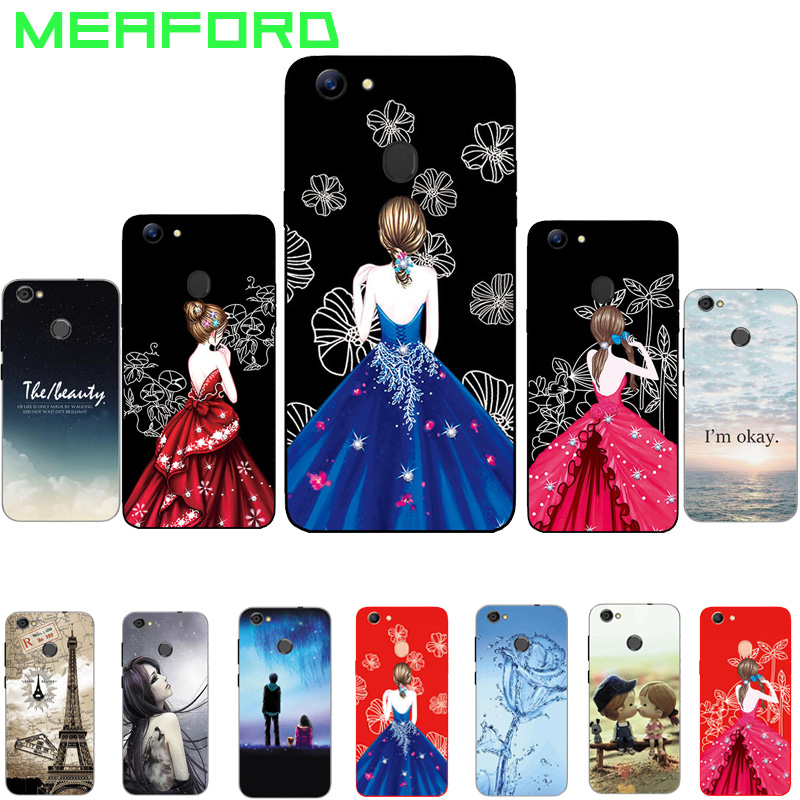 ec490fbd154dad For Oppo F5 Youth Case Soft Silicone TPU Cover Fashion Dress Girl ...