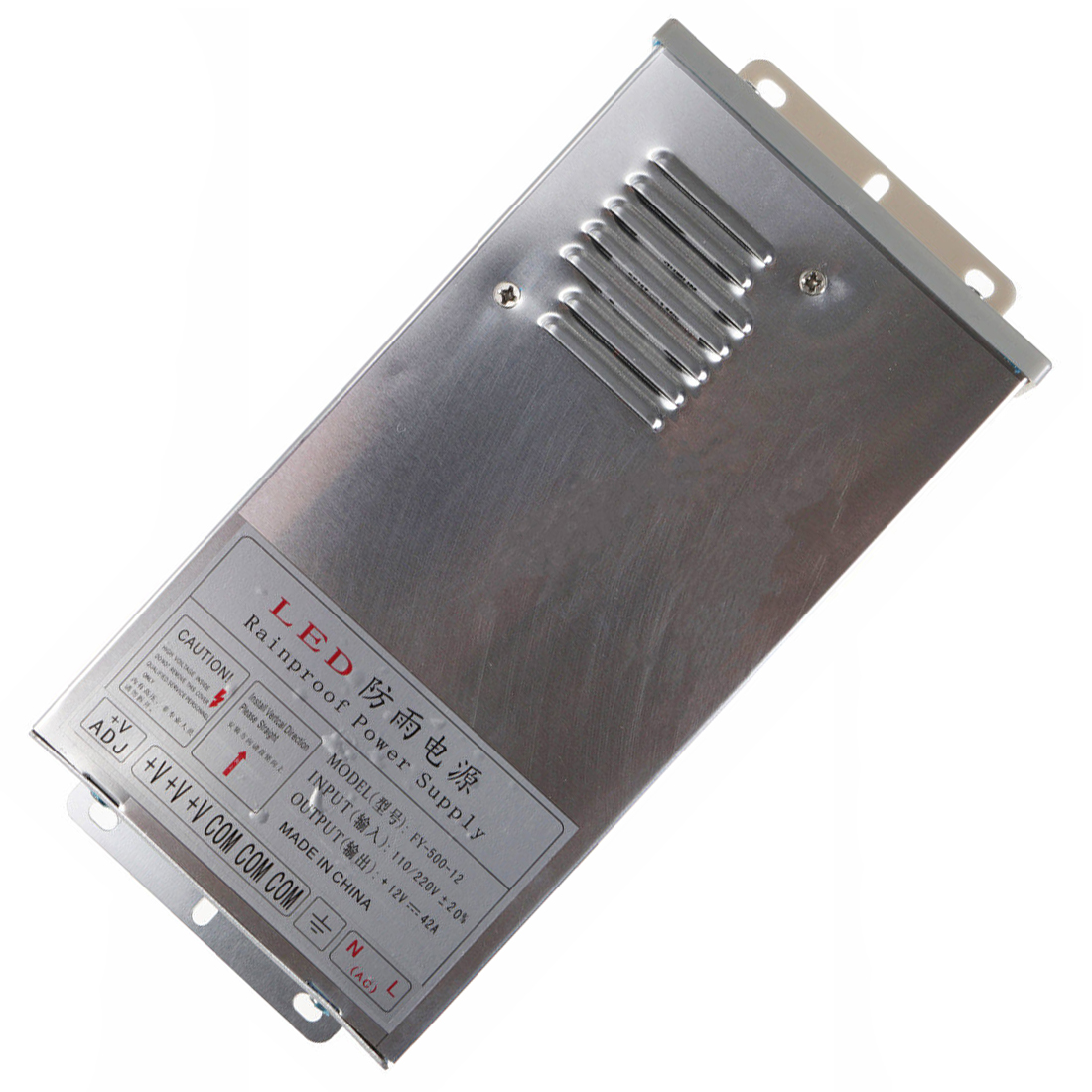 In/Outdoor Switching Power Supply Silver, FY 500 12 12V 42A 500W