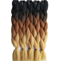 5PCS Esprit Beauty Purple Blue 2Tone Ombre Synthetic Jumbo Braiding Hair Extensions 24inch For African Crochet