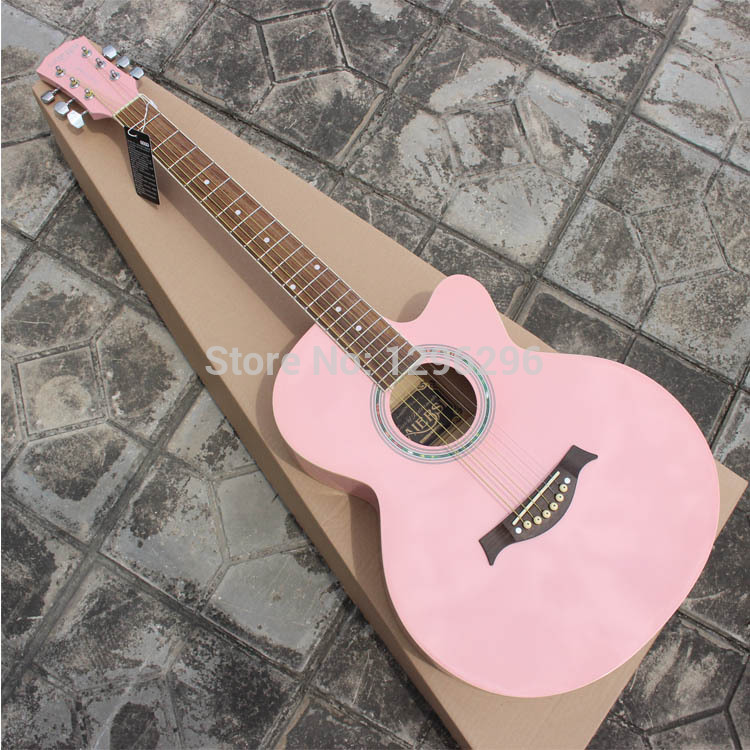 Free Shipping About 98 Cm 39 Inch Pink Girls Guitar Textbooks Package Clip Kazoo String Straps In From Sports Entertainment On