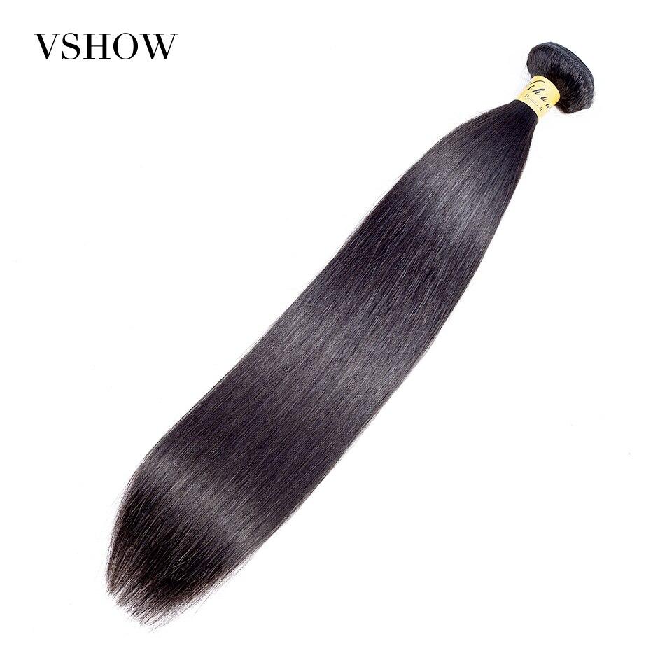 VSHOW cheveux raides malaisiens 100% cheveux humains armure paquets Remy Extensions de cheveux rebondissants pas de pointes fourchues peut acheter un paquet mixte