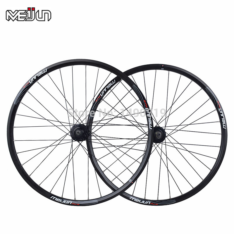 MEIJUN 26 Inches MTB Mountain Bikes Bicycles Wheelset wheel Rim 32 Hole Quick release Rotating Disc Brake Hubs ultralight bearing hubs mtb mountain bicycle hubs 32 holes 4 bearing quick release lever mountain bike disc brake parts 4colors