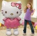 116*65 cm de gran tamaño de hello kitty cat foil globos decoración del banquete de boda de cumpleaños globos de aire inflables de dibujos animados juguetes clásicos