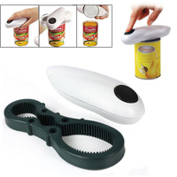 High Quality New One Touch Automatic Can Jar Opener Tin Open Tool Cordless Battery Operated
