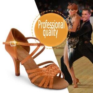 Image 5 - סניקרס למבוגרים מקצועי נעלי ריקוד מסיבת סלוניים גבירותיי אירובי נעלי ריקוד חום BD 2360 B קופון חם כיכר ריקוד