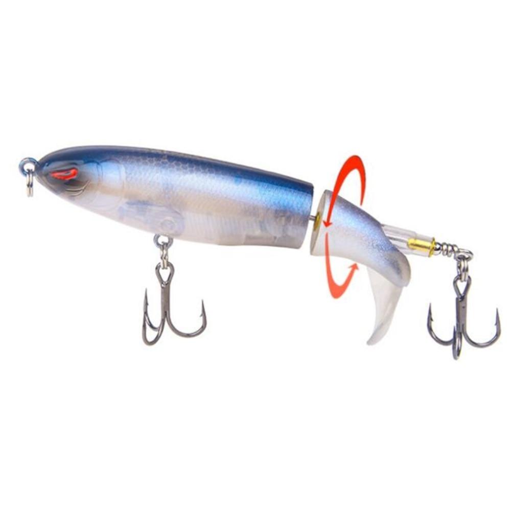 1pcs/lot Whopper plopper 10cm 13g Floating Popper Fishing Lure Artificial Hard Bait Wobbler Rotating Tail Fishing Tackle 3D Eyes