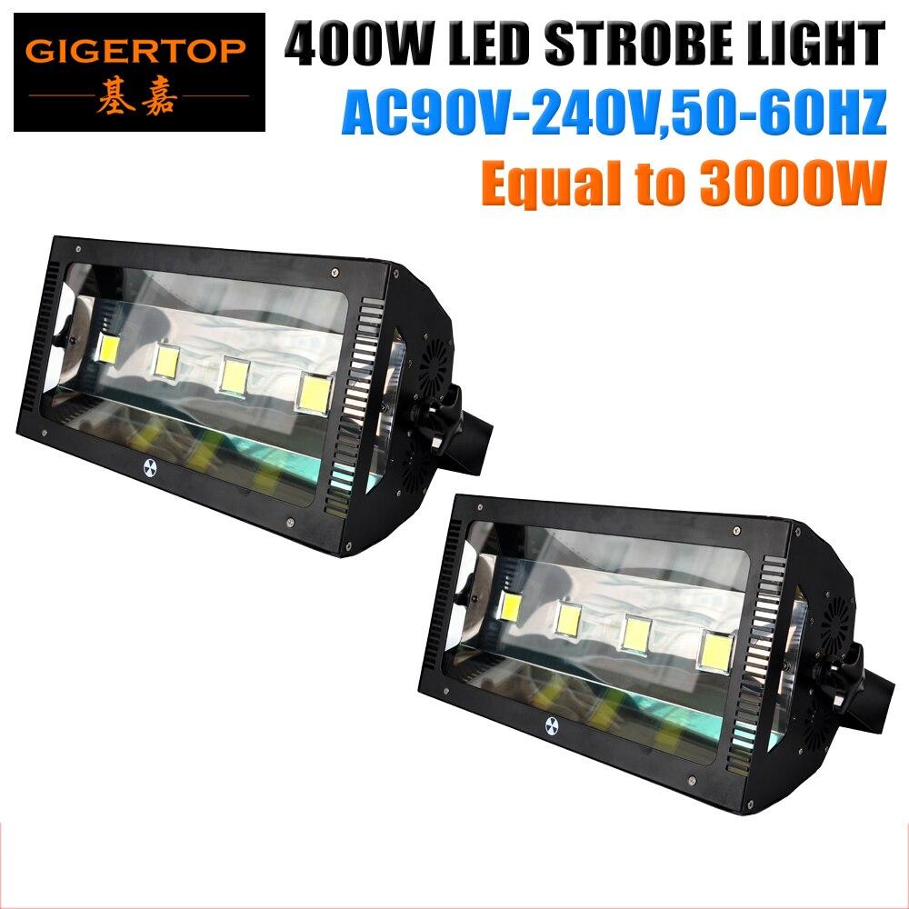 Tiptop 2 xlot 400 Вт светодиодной вспышки света Новый Мощность же до 3000 Вт DMX флэш-лампа 3pin/5pin подключите нарастить Подпушка Авто dmx-стробоскоп