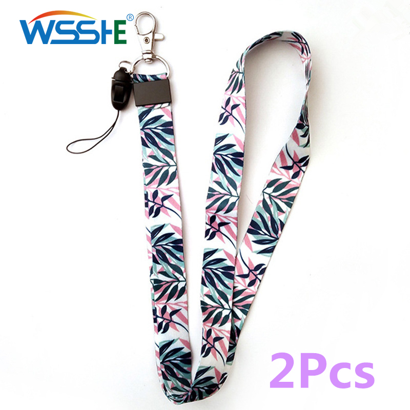 2pcs Mobile Phone Strap For Keys ID Card For USB Badge Holder phone hand Neck Lanyard cord Hang Mobile Rope Cartoon Cute Strap