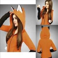 Cosplay Costume Fox Sweatshirt Women's Hoodie Long Sleeved Rabbit Ears Hooded Sweatshirt Ladies Spring And Autumn Coat