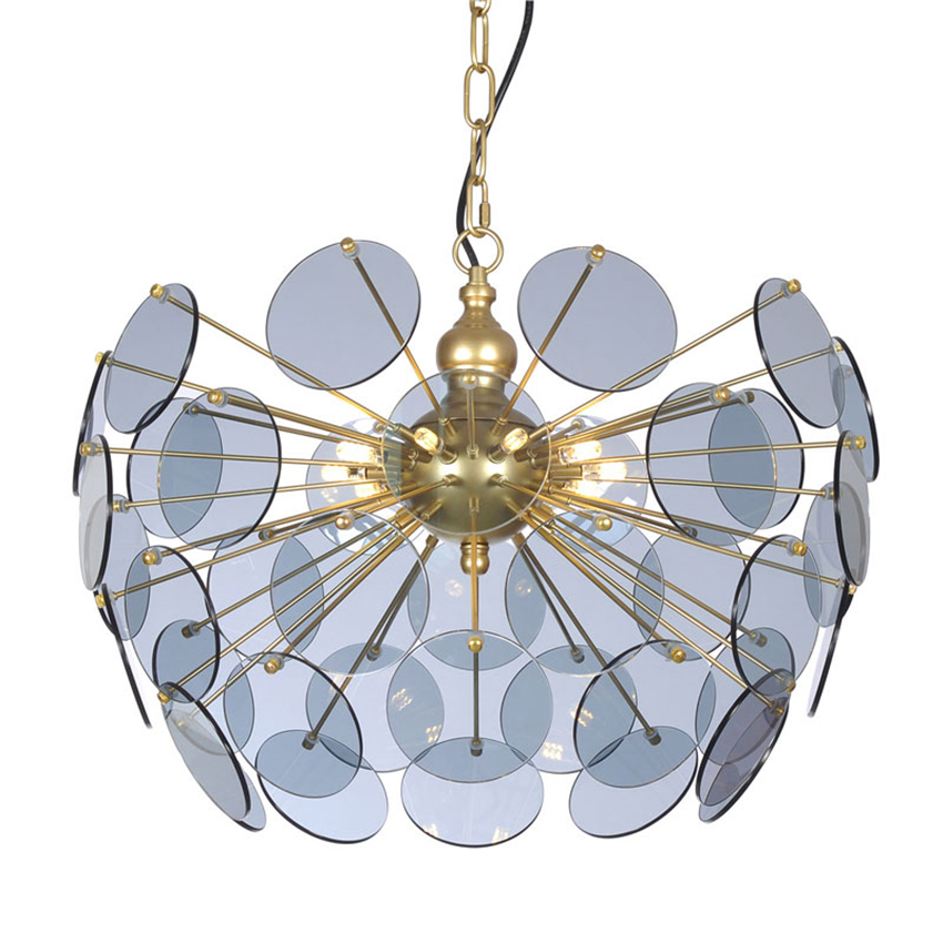 Rear Modern LED Chandeliers Gold Glass Led Pendant Lamps Room Bedroom Hanging Lamps Hotel Lobby Office Lighting Decorative Lamps