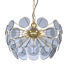 цены на Rear Modern LED Chandeliers Gold Glass Led Pendant Lamps Room Bedroom Hanging Lamps Hotel Lobby Office Lighting Decorative Lamps  в интернет-магазинах