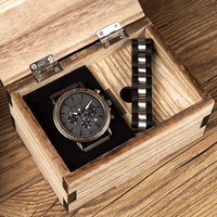 BOBO BIRD Wood Watch and Bracelet Set for Men Chronograph Wristwatch Gift Set for Him orologio roles pulsera hombre uomo