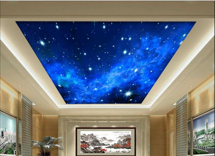Online get cheap night sky wallpapers for 3d ceiling paper
