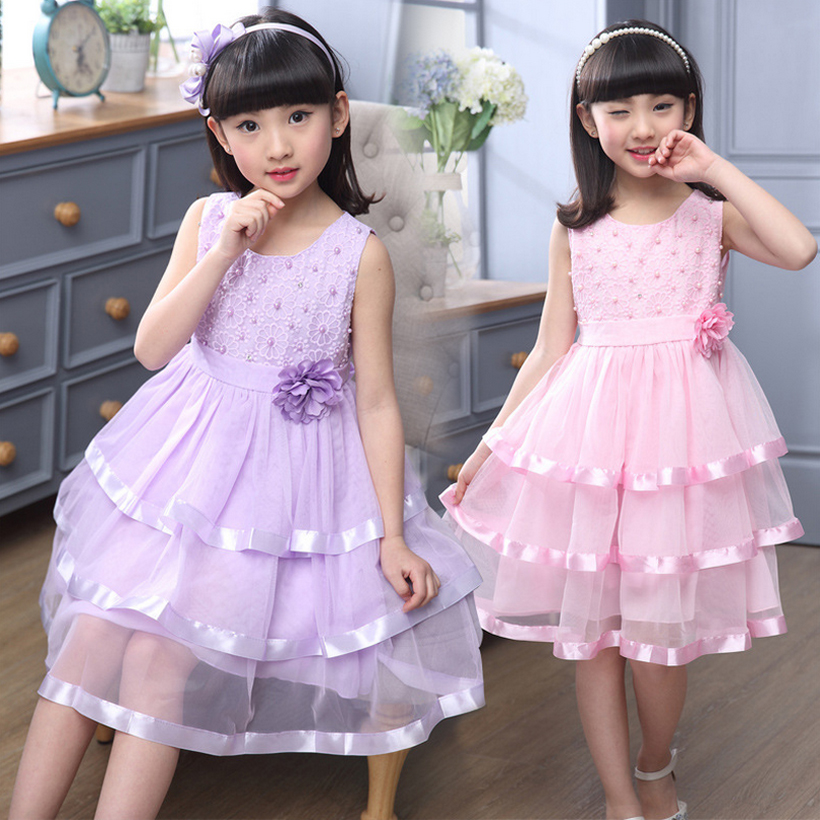flower girl dress for party and wedding girls dresses 2017 summer fashion toddler kids clothes clothing birthday 3~14 year MC68 flower girl dress for party and wedding summer girls dresses lace evening toddler kids clothes birthday new fashion 5 14 year
